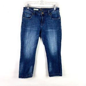 KUT from the Kloth Lauren Crop Straight Leg Jeans